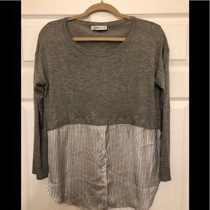 Zara Tops Knit Sweater And Blouse Top Combo Poshmark